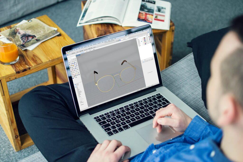 TRYME SOLUTIONS employee creating 3D eyewear